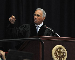 Atty. Paul G. Perantinides delivers the commencement speech to the recent  2011 YSU Summer commencement graduates...Photo By:  Lindsay Y McCall | The Vindicator