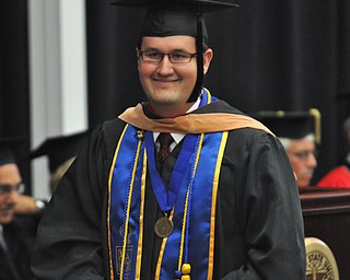 Student commencement speaker Kolton Ross Codner receives his Master of Business Administration at the 2011 YSU summer commencement...Photo By:  Lindsay Y McCall | The Vindicator