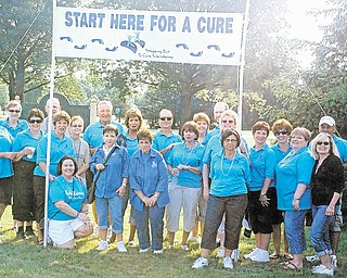 Members of Youngstown Scleroderma Support Group's 8th annual Stepping Out to Cure Scleroderma committee and friends gather after the recent walk. The event drew 375 participants and raised $40,000 to help provide educational seminars and local support groups for patients and caregivers, and to contribute to research grants and clinical trials to help find a cure for the life-threatening autoimmune disease. Next year's event is set for June 2. For more information about scleroderma, visit www.scleroderma.org.