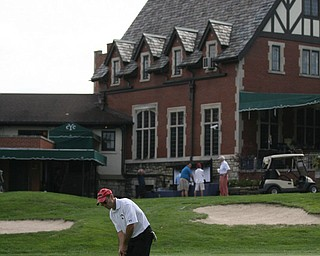 JESSICA M. KANALAS | THE VINDICATOR..John Hazy putts during day two of the Greatest Golfer Tournament at Youngstown Country Club... -30-