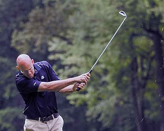 Rob Venrose competes during the preliminary rounds of the Greatest Golfer Tournament at Mill Creek Golf Course. The 54-hole tournament continues today and Sunday.