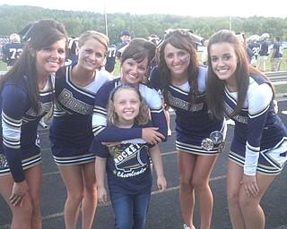 Livia Laudermilt with Senior Cheerleaders