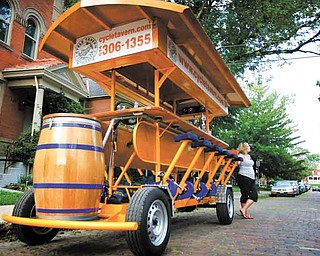 The Cycle Tavern is a 16-passenger bicycle built for bar crawling, and it can be rented out for parties, corporate retreats or by anyone looking for a different way to get between pubs.