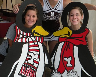 Boardman Cheerleaders Joanna Sokol, Emily Beshara and Cassie Roth enjoy Canfield Fair after the annual Cheer Exhibition