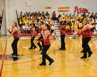 Danceline performs at pep rally