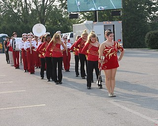 Mooney band at tailgate party