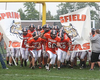 FOOTBALL -Friday night in Springfield. - Special to The Vindicator/Nick Mays
