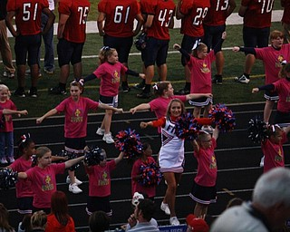 little falcons and little colt cheerleaders with the Fitch Cheerleaders