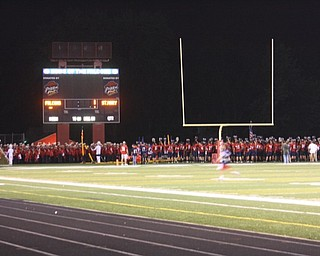 football team w band at end of game w alma mater in end zone win or lose