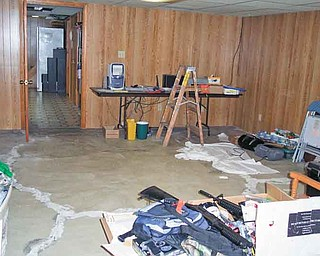 "This is what Dante DelSignore's basement looked like before the Make-A-Wish Foundation granted his request for a ""man cave."""