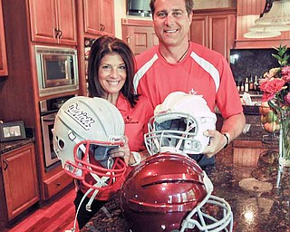Dr. Steven D. Novicky and his wife, Kim, of Canfield, developed a patent-pending sports product called  Shockstrips™, which may help prevent brain injuries in young athletes by raising the level of protection provided by virtually any helmet, be it for football, hockey, baseball, lacrosse or cycling.