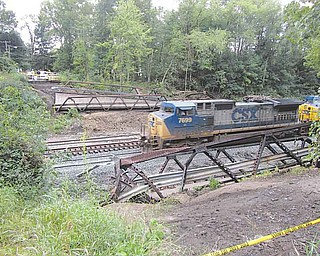 The CSX train derailment at the Fifth Street crossing on the south end of Niles on July 30  resulted in $734,000 worth of damage to train equipment, track, signals and structures. Among the damage was destruction of the Fifth Street bridge, which carried vehicle traffic over the rail line between the Fifth Street neighborhood and Salt Springs Road.