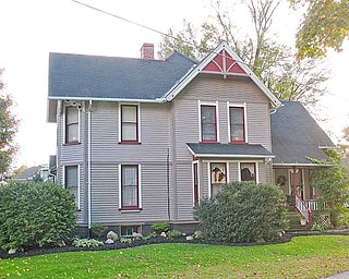 Kinsman's biannual Harvest of Homes Tour this Saturday features six homes dating from the 1830s through the 20th century. This Edwardian home, at 8357 Main St., was built around 1900 and has decorative porches, stained-glass windows and an open staircase. During the tour, an old-fashioned quilting bee will take place on the home's second story.