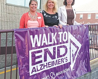 Special to The Vindicator: Walk to End Alzheimer's Committee members include, from left, Gretchen Crater, Johanna Nuzzo and Pam Rogers. Members not pictured are Deanna Spirko, Sherrin Stambaugh and Heidi Vanek.