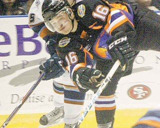 The Youngstown Phantoms' Ryan Belonger (16) is returning to the ice on the Phantoms' top line with Mike Ambrosia and newcomer Auston Cangelosi