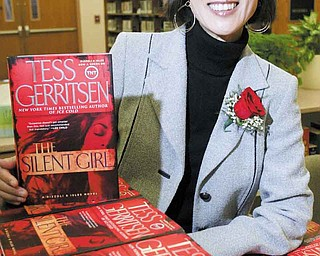 Tess Gerritsen, author of the popular Rizzoli & Isles book series, visited Youngstown's main library Thursday. The event was a fundraiser for the Public Library of Youngstown and Mahoning County.