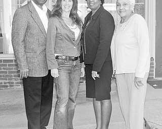 Nick Mays | Special to The Vindicator: Preparing for the Ebony Lifeline Support Group's All-Sports Banquet are, from left to right, William Allen, Toni DiMargio, Pat Traylor and Frances Prayor Singleton.