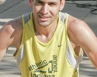 William D. Lewis|The Vindicator 1 rst place winner Aziz Atmani of Peace Race Sunday .