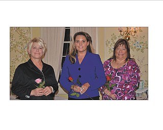 The three new members inducted into the Columbiana Area Business and Professional Women's Group are, from left to right, Vicki Carmen, Renee Marple and Annette Howard. The group promotes equity for women in the workplace.