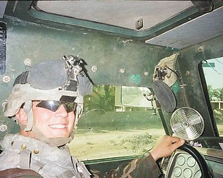 David Balestrino Jr. served in the U.S. Army for three years of active duty, half of which was in Iraq. He was in the 10th Mountain Division out of Fort Drum, N.Y. His proud father David Balestrino Sr., sent the picture of his son in his Humvee doing road clearance for IEDs.