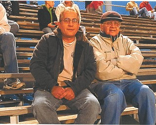 Yvonne Palagano of Boardman sent in this photo of her two favorite veterans. On the left is her brother, Steve Sipus of Boardman, who served for four years in the U.S. Marines. Next to him is their father, Gene Sipus of Canfield, who served in the U.S. Army for four years.