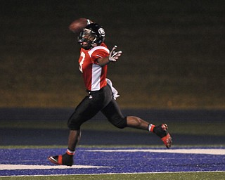 Girard receiver #3 Branden Byrd celebrates after crossing the goal line for the touchdown.