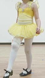 Elizabeth Harger, 6, a student at Stage Door in Poland, takes part in a tapdance class at the school operated by Teri Nobbs. Nobbs operates a similar school in Liberty.