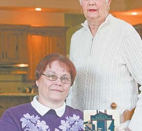"""Loretta Ekoniak, left, of Canfield and Susan Summers of West Middlesex, Pa., coauthored a book called """"Images of America: Slovaks of the Greater Mahoning Valley."""" They have scheduled two book signings in the Valley."""