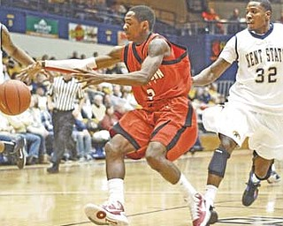 YSU sophomore guard Kendrick Perry scored a career-high 28 points to help the Penguins snap a 23-game road losing streak Saturday night.