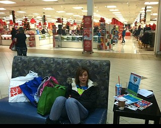 By 6 a.m, many Eastwood Mall shoppers were already exhausted.
