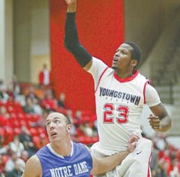 After playing two of the best games of his career last week, YSU senior forward DuShawn Brooks was named the Horizon League men's basketball player of the week.