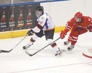 The Youngstown Phantoms have struggled to score on the power play this season, but thanks to players such as defenseman Jordan Young, left, the team is dominating even-strength situations. Young is plus-8 in even-strength goals, helping the Phantoms to the thirdbest record in the USHL so far.