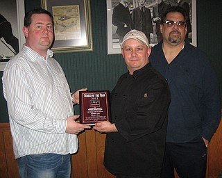 The Mahoning Valley Burger Review Board presents the 2011 Burger of the Year award to Sunrise Inn in Warren, Ohio.