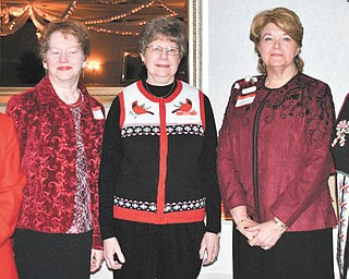 Shown, left to right, at their recent holiday celebration are 2012 officers of the Niles Chapter of the American Sewing Guild: Diane Wittik, Jennie Roberts, Marion Gibson, Barbara Tryon and Lynn Price.