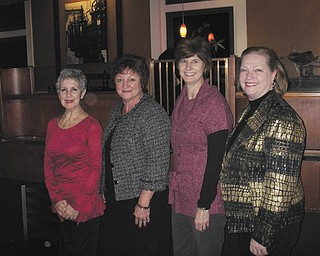 A holiday party for the Junior Group of Goodwill Industries took place Dec. 5 at Selah's Restaurant in downtown Struthers. Committee members were (from left to right) Barbara D'Sidocky, Denise Yoho, Michele Higgins and Derrie Wilkes. The group consists of volunteers who support the mission of Goodwill.