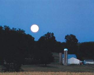 Full moon in New Wilmington Amish country. Taken by Lana Van Auker of Canfield.