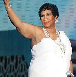 """Aretha Franklin, shown at the taping of """"Surprise Oprah! A Farewell Spectacular,"""" says the proposal from her longtime friend Willie Wilkerson was not entirely unexpected."""