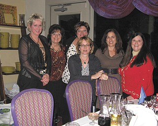 Boardman-Poland Junior Women's league 2012 officers are, from left to right, Yvonne Ford, first vice president and membership chairwoman; Nina Lowry, recording secretary; Linda Crish, corresponding secretary; Monica Baker, second vice president; and Sperry Rongone, president. At far right is Lisa Hedrick, junior director of GRWC/Ohio Federation of Women's Clubs.