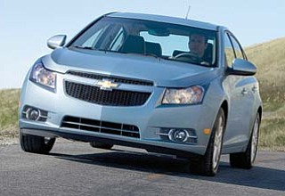 A Chevy Cruze is shown in this undated photo. General Motors Co. has surpassed Toyota to once again become the world's top-selling automaker.