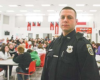 Aldish is in the school district five days a week. He deals with truancies, reports of drugs, thefts and fights.