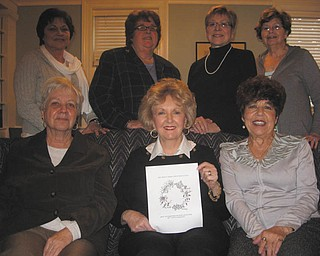 Holborn Herb Growers Guild is working on a Herb Symposium to take place March 24. Some members of the guild are, at bottom from left to right, Terry Ham, Carri Bookwalter and Johanne Edel. At top are Sue Kasmer, Peggy Mills, Mary Grace Fowler and Diane Playforth.