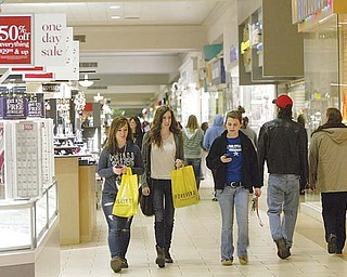 Foot traffic is up at shopping centers such as Eastwood Mall in Niles, contributing to the steady rise in sales-tax