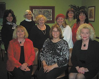 Members of the 2012 Trumbull County Women's History Dinner Committee are, from left to right, first row, Esther Gartland, Beky Davis and Julie Vugrinovich. Standing are Stephanie Furano, Roz Jackson, Judie Hartley, E. Carol Maxwell, Pam Hallett and Renee Maiorca. Absent from the picture are Theresa Salcone, Kenya Howard and JoAnn Liptak.