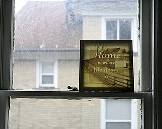 JESSICA M. KANALAS  | THE VINDICATOR..Even positive decor is donated to Blake's home.