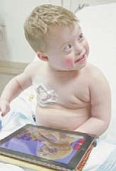 Chemo patient Donnie Eisenbraun, 5, of Southington gets treatment at Akron Children's Mahoning Valley.