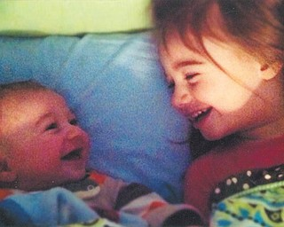 Renee Koliser of Austintown sent in this photo of her grandchildren Liam and Olivia Koliser sharing a laugh.