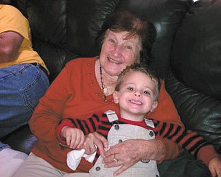 Great-grandma Patrick, 89, cuddles with great-grandson Raiden Rossi, 3. Photo submitted by Sandy Rossi.