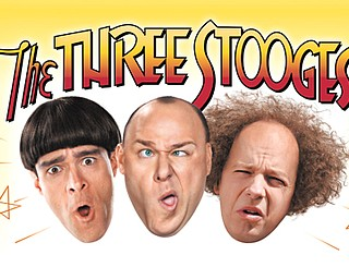 "Chris Diamantopoulos, left, Will Sasso and Sean Hayes star in ""The Three Stooges."""
