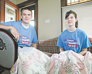 Jerry McLalin, 15, left and his sister, Taylor, 17, of Hubbard have been participating in the Liberty Relay for Life for years. They and their family will take part this year as well.