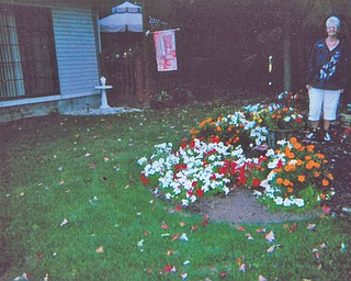 JoAnn Carissimi of Boardman shows off many-colored blossoms. Photo sent in by Deborah Carissimi of Boardman.